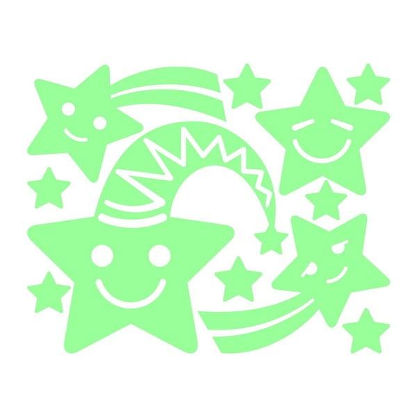Naklejka świecąca Fanastick Smiling Stars