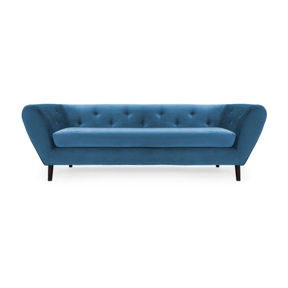 Niebieska 3-osobowa sofa Vivonita Etna Aquamarina