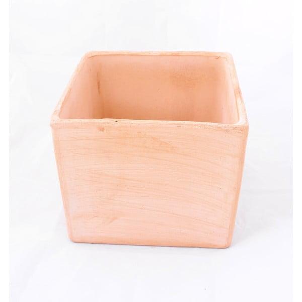 Doniczka ceramiczna Cubo 24 cm, czerwona