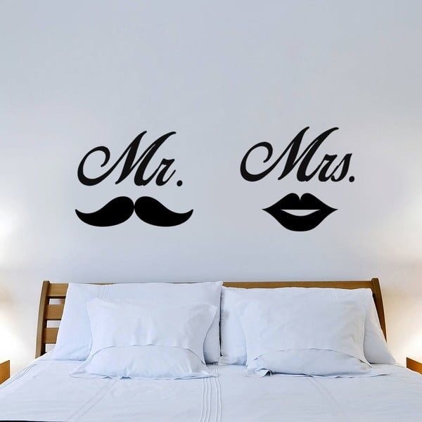Naklejka naścienna Mr. Mrs