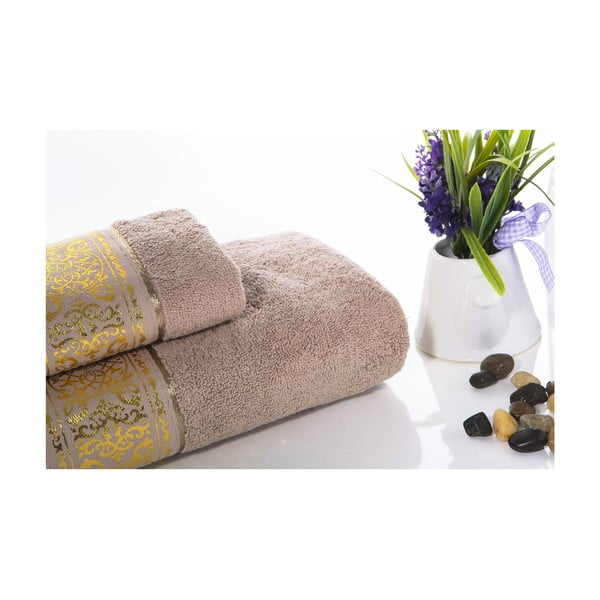 Zestaw 2 ręczników Flora V2, 30x50 cm + 50x90 cm