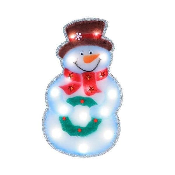 Świecąca dekoracja LED Snowman Silhouette