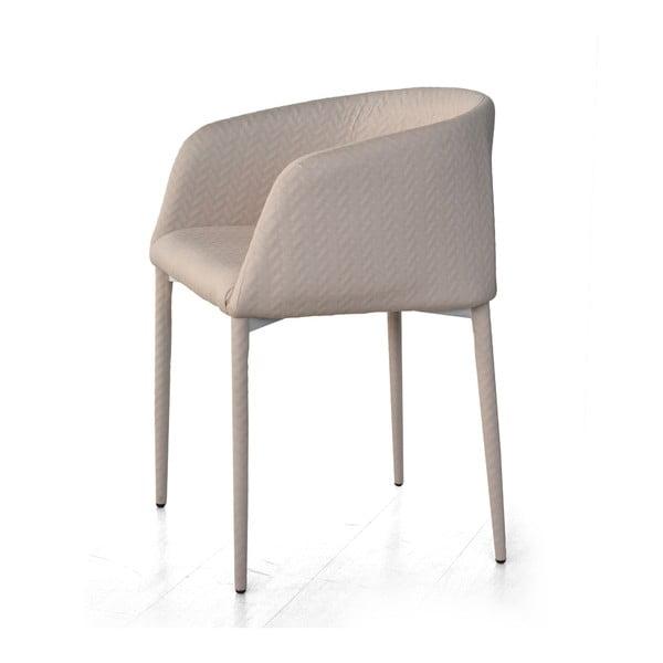 Szare krzesło z podłokietnikami Evergreen House Prima