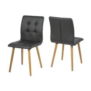 Zestaw 2 czarnych krzeseł Actona Frida