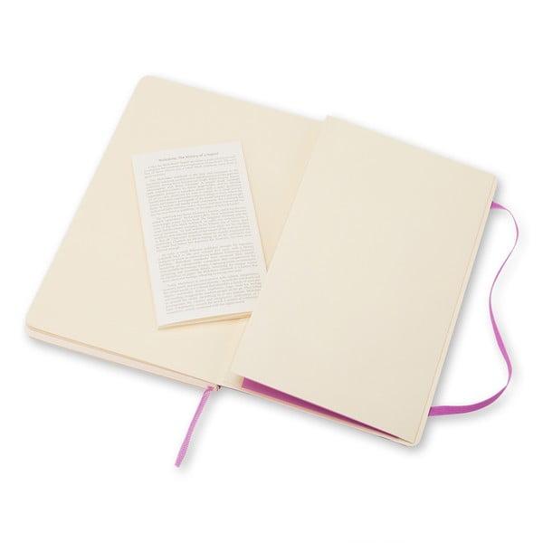 Jasnofioletowy notatnik gładki Moleskine Soft, mały