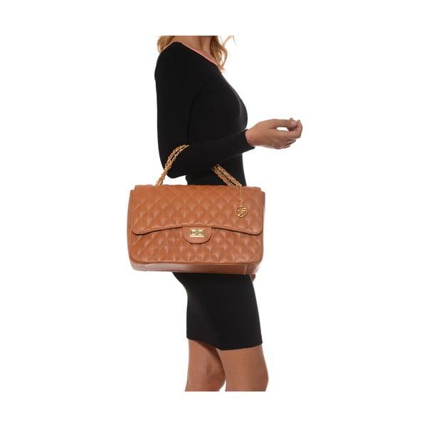 Skórzana torebka Casla, koniak