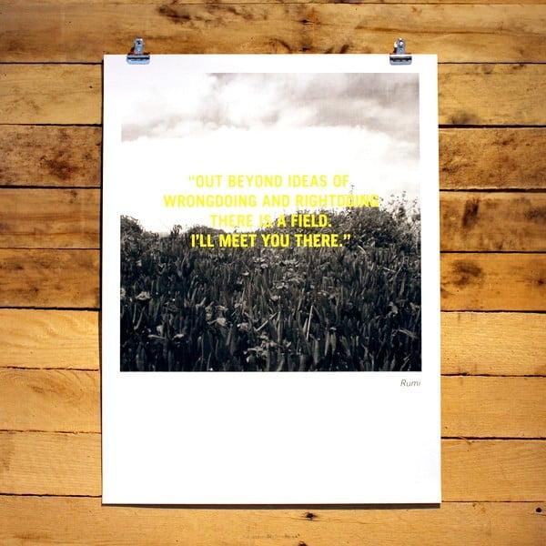 Plakat Rumi, 30x41 cm