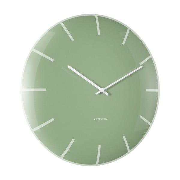 Zielony zegar ścienny Karlsson Boxtel & Buijs