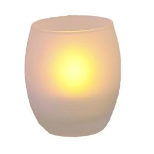 Owalny świecznik ze świeczką LED