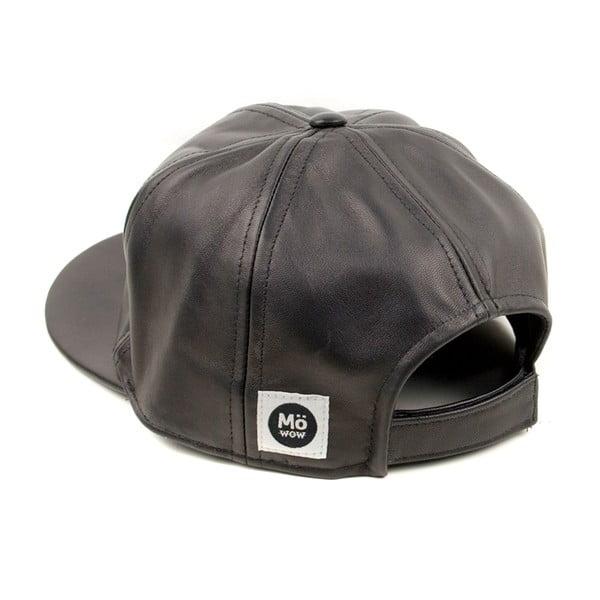 Skórzana czapka z daszkiem Nappa 6 Black