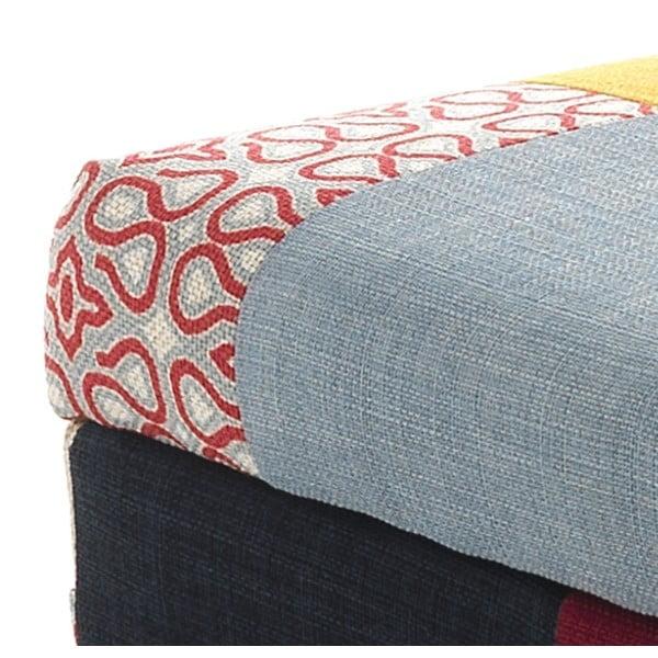 Stołek tapicerowany ze schowkiem Tomasucci Kaleidos, 40x80x40 cm