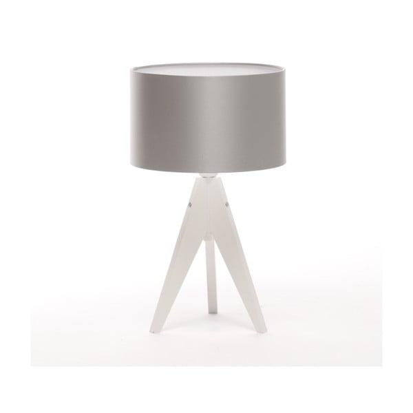 Lampa stołowa Artista White/Silver, 28 cm