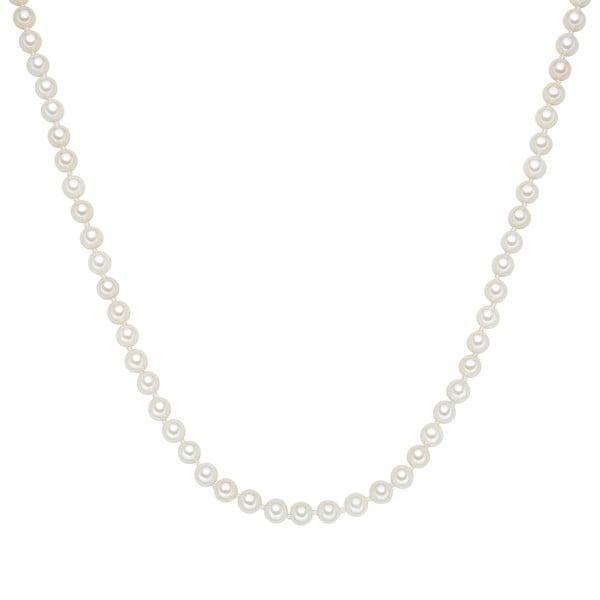 Perłowy naszyjnik Muschel, białe perły 6 mm, długość 45 cm