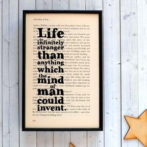 Plakat w   drewnianej ramie Sherlock Holmes Life