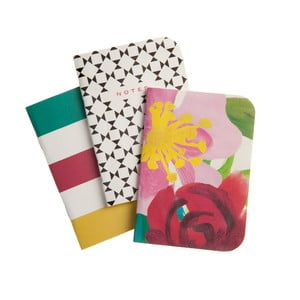 Zestaw 3 zeszycików Floral