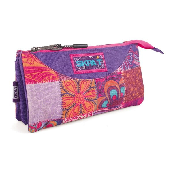 Piórnik/organizer z trzema kieszeniami Carry All Purple Mix