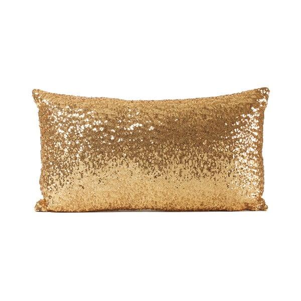 Poduszka z cekinami Shiny Gold, 33x57 cm