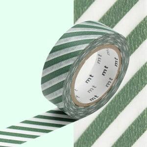 Taśma dekoracyjna washi Stripe Cobalt Green