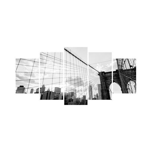 Wieloczęściowy obraz Black&White no. 85, 100x50 cm