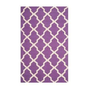 Dywan wełniany Ava Purple, 182x274 cm