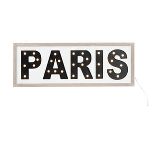 Wiszący napis LED Paris