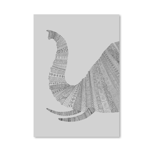 Plakat Elephant Grey, 30x42 cm
