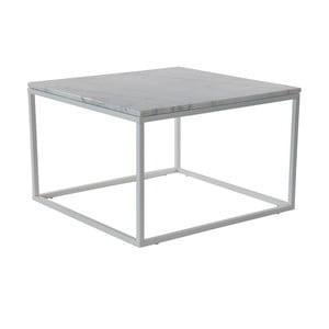 Marmurowy stolik z szarą konstrukcją RGE Accent, 75x75cm