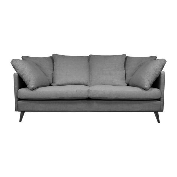 Ciemnoszara sofa 3-osobowa Helga Interiors Victoria