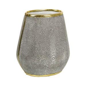 Szary wazon ze złotym detalem Santiago Pons Pearl