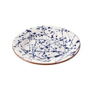 Ceramiczny talerz Blue Art, 22 cm