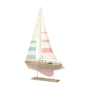 Drewniana dekoracja Boat Pink, 31x49 cm