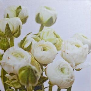 Obraz Białe kwiaty, 40x40 cm