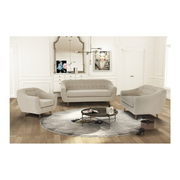 Szarobrązowa sofa 2-osobowa Jalouse Maison Vicky