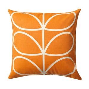 Pomarańczowo-beżowa poduszka z dwustronnym nadrukiem Orla Kiely Orangina, 45x45 cm