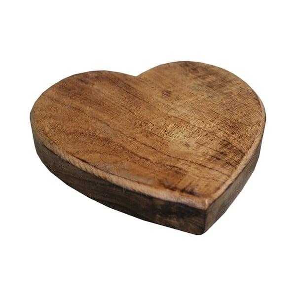 Podstawka drewniana pod garnek Antic Line Heart