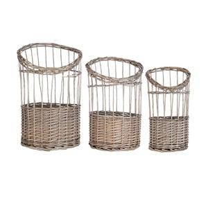 Zestaw 3 koszyków Clayre & Eef