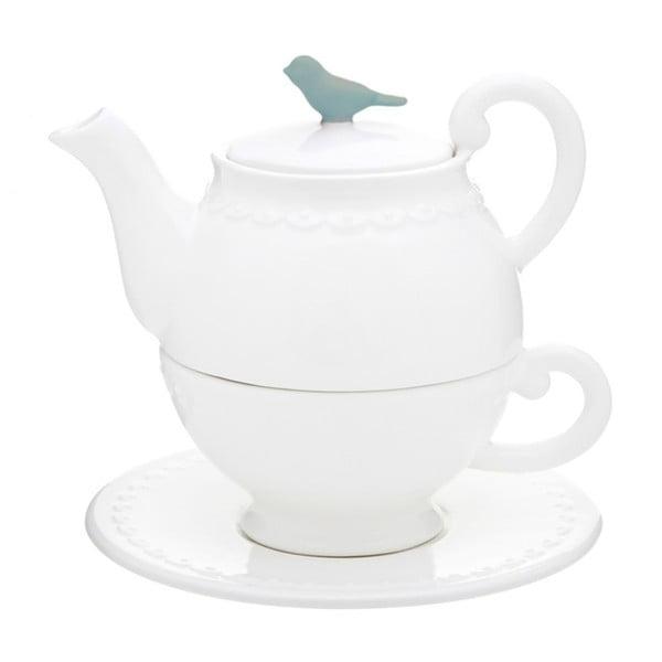 Komplet   czajniczek na herbatę, filiżankę i spodek Flight of Fancy
