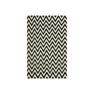 Wełniany dywan Nelli 152x243 cm, czarny