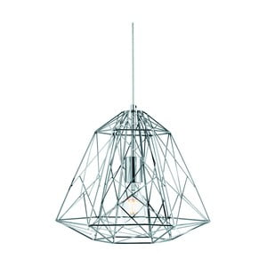 Lampa wisząca Searchlight Geometric Cage, srebrna