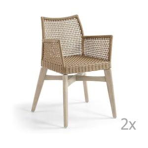 Zestaw 2 beżowych krzeseł La Forma Rodini