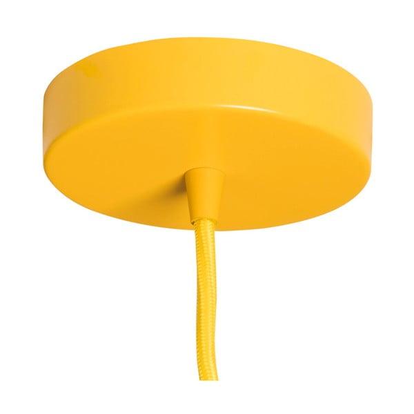 Żółta lampa wisząca SULION Glassy