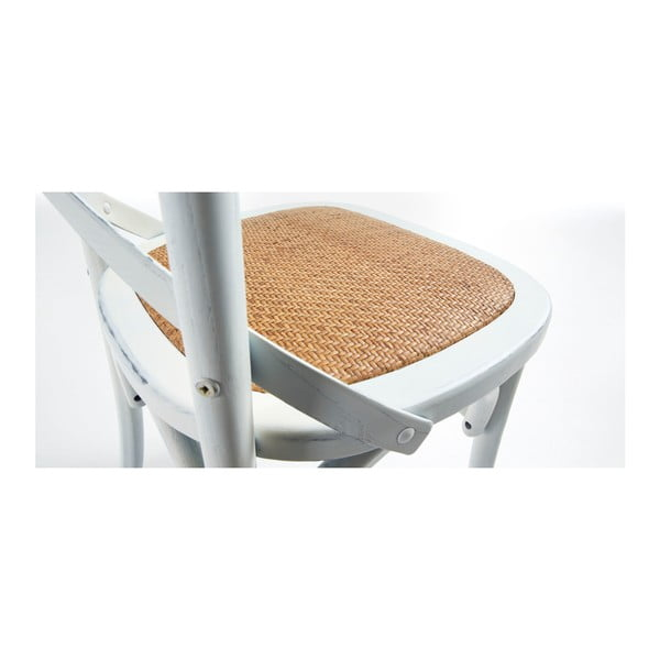Krzesło Silea, białe/naturalne