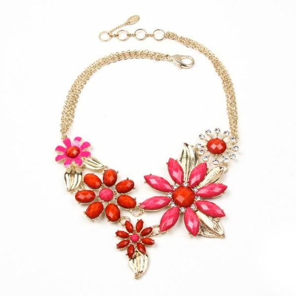 Naszyjnik Della Floral Pink/Red