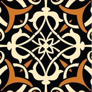 Naklejki Tile Art, black, 4 szt