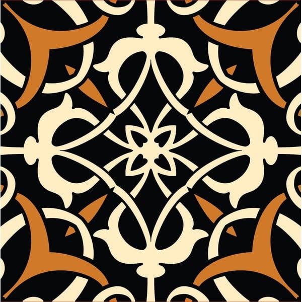 Naklejki Tile Art Brown Ornament, 4 szt.