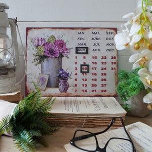 Metalowy kalendarz stołowy Lilac