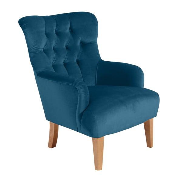 Niebieski fotel Max Winzer Brandon Suede