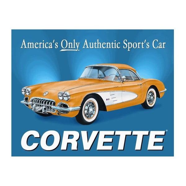 Blaszana tabliczka Corvette, 30x40 cm