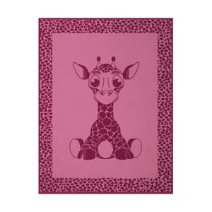 Koc Giraffe Pink, 75x100 cm