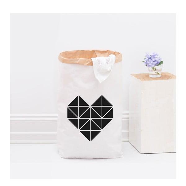 Papierowy kosz Origami Herz Schwarz